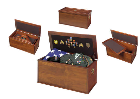 Heirloom Personal Effects Chest Flag Case